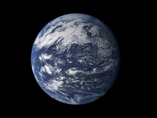 planeta agua, poster de la Tierra desde el espacio