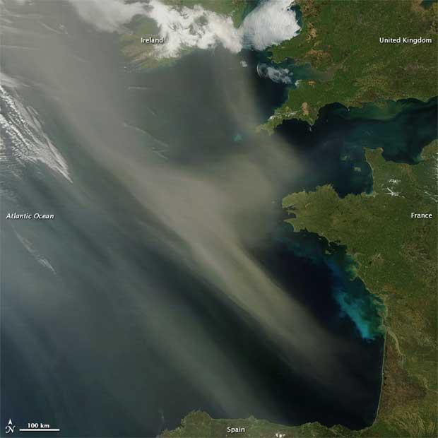 polvo del Sahara al Norte de la costa española