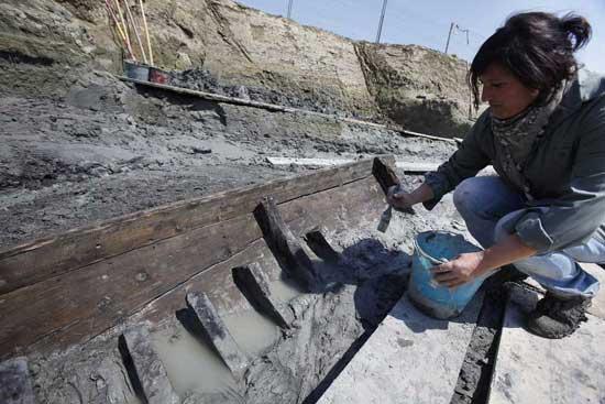 recuperación de un antiguo barco romano