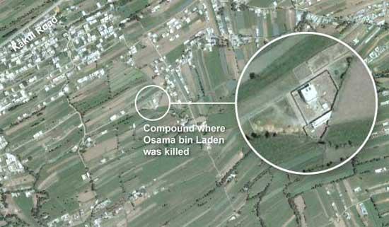 localización del refugio de Bin Laden en Abbottabad