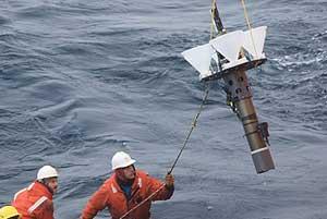 trampa sedimentos Lagrange lanzada bajo los icebergs