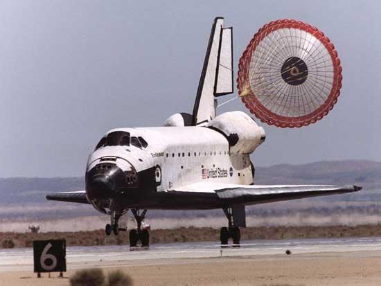 un aterrizaje del transbordador Endeavour