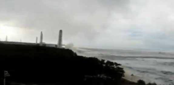 tsunami en la planta nuclear de Fukushima, 11 marzo 2011
