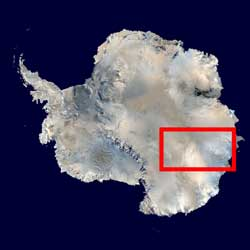 área de estudio del ICECAP en la Antártida