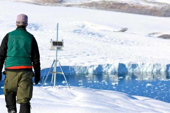 Brad Danielson en el glaciar Belcher