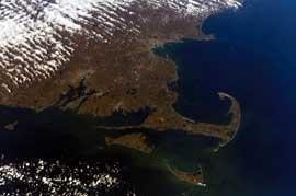 Cape cod desde el espacio
