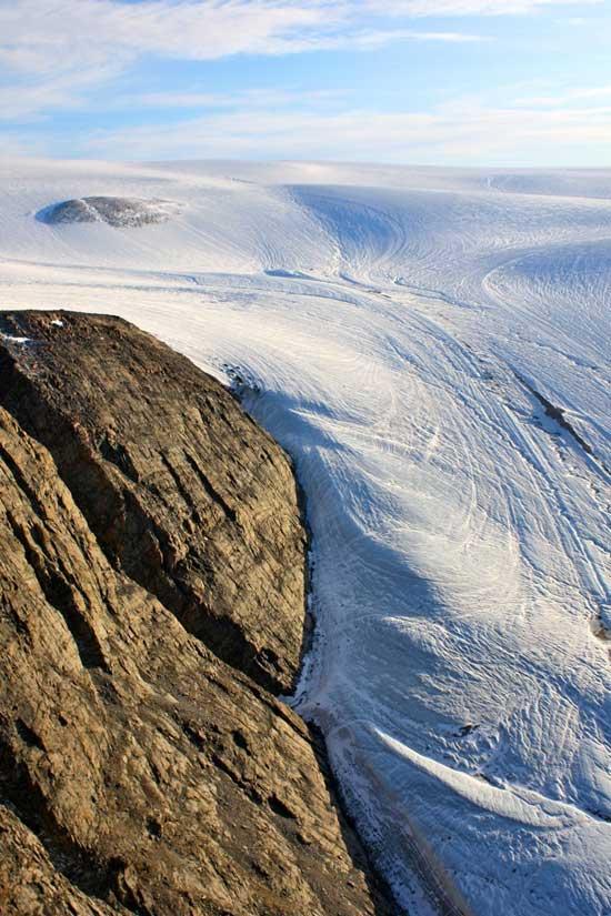 glaciar Sverdrup, Canadá - vista aérea