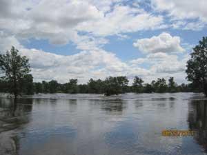 inundación del río Souris