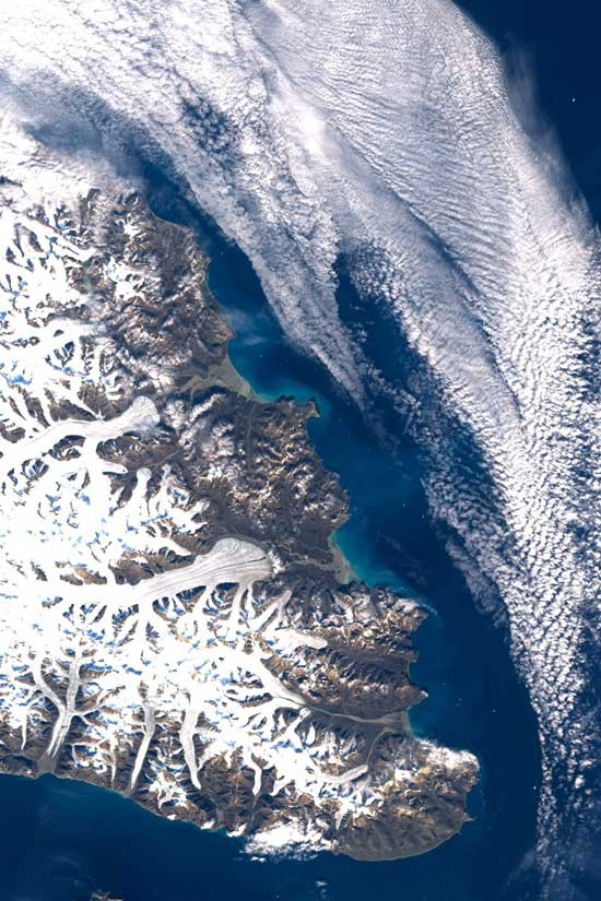 isla Bylot, Canadá - imagen satélite