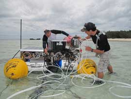 laboratorio submarino para estudiar los efectos de la acidificación