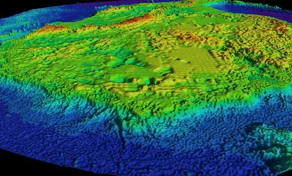 mapa en 3D de la Cuenca Subglacial Aurora
