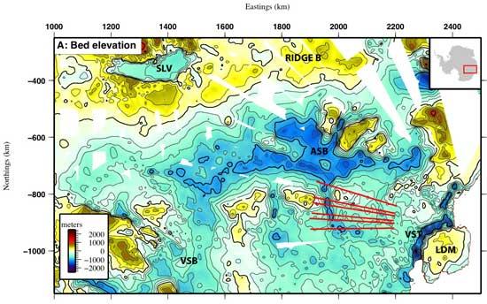 mapa de la Cuenca Subglacial Aurora
