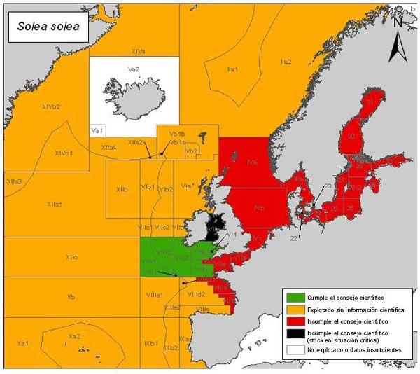 mapa de riesgo pesquero del lenguado