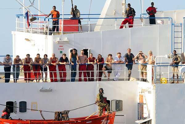 rehenes capturados por piratas en Somalia