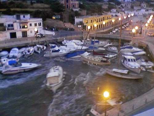rissaga de junio 2006 en el puerto de Ciudadela, Menorca