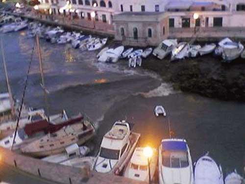 rissaga de junio 2006, puerto Ciudadela, Menorca