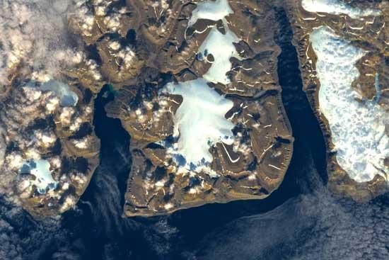 costa sur de la isla Ellesmere, Canadá