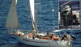 El velero Tanit durante su secuestro