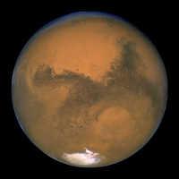 foto de Marte del telecopio Hubble