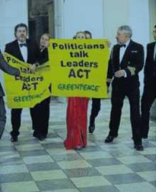 acción de Greenpeace en Copenhague