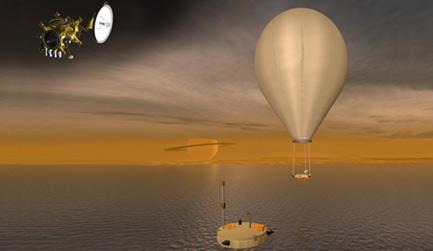 barco, globo y sonda misión TIME