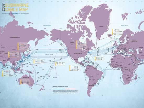 mapa cables submarinos 2009