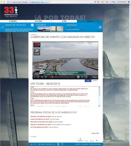 pantalla online copa américa 2010
