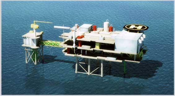 plataforma marina proyecto Castor