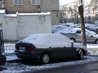 coche nieve en Madrid - enero 2010