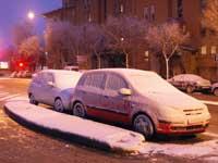 coches nevados, Madrid enero 2010
