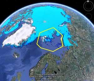 distribución de oso polar en el mar de Barents