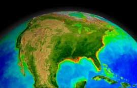 fitoplancton visto desde un satélite