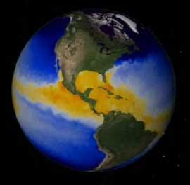 fitoplancton en la Tierra