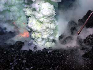 fuego sulfurico volcán submarino