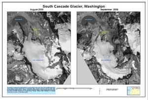 glaciar South Cascade, Washintong