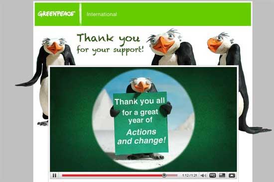 Greenpeace agradece el apoyo