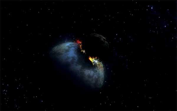 impacto de gran asteroide sobre la Tierra