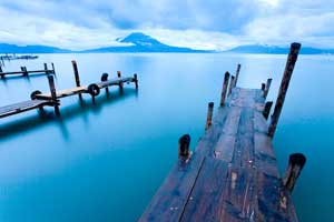 lago Atitlán, muelles