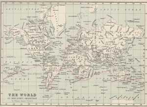 mapa con el recorrido del viaje del Beagle