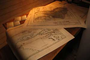 mapas Darwin en Beagle, Museo do Mar, Vigo