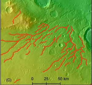 Valles en Marte