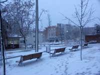 nieve en Madrid, enero 2010 - Fuencarral