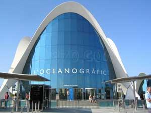 L'Oceanografic de Valencia, entrada