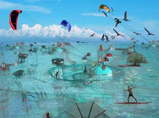 Open Sailing, recreación artística