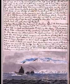 página del libro master de navegación de James Cook