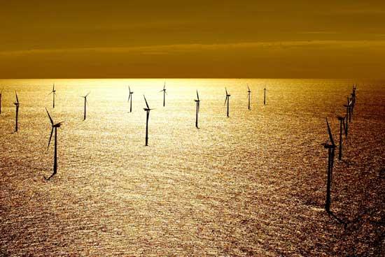 parque eólico marino en Dinamarca