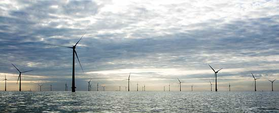 parque eólico marino en Gran Bretaña
