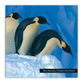 pingüinos, tarjeta de Navidad, wwf