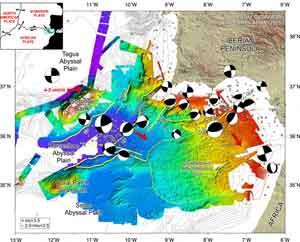 placas tectónicas sur-oeste península Iberica