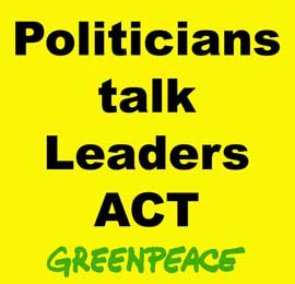 políticos hablan, líderes actúan